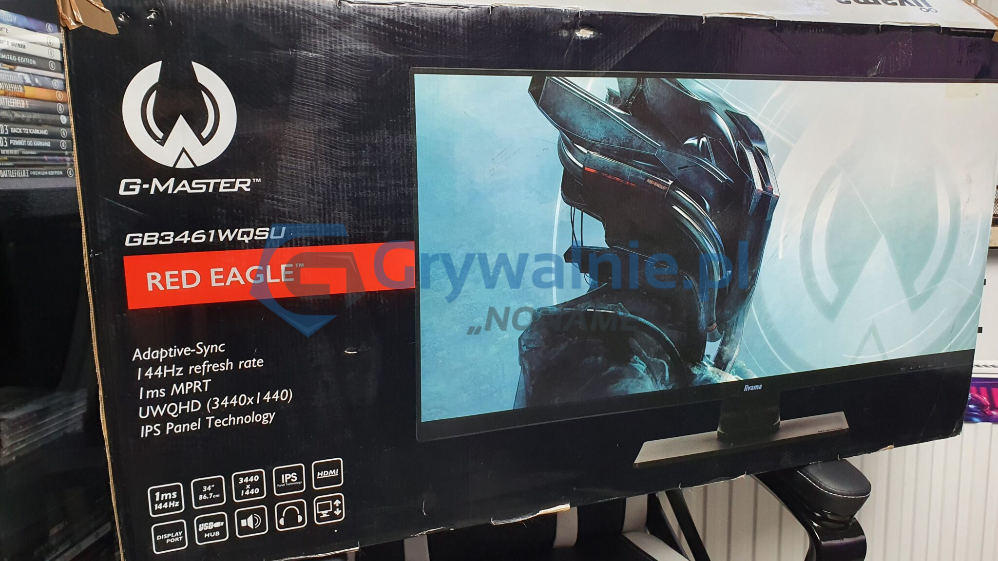 "iiyama G-Master GB-61WQSU-B1. Test monitora dla graczy (34"", UWQHD, 144Hz, IPS LED, 1ms)"