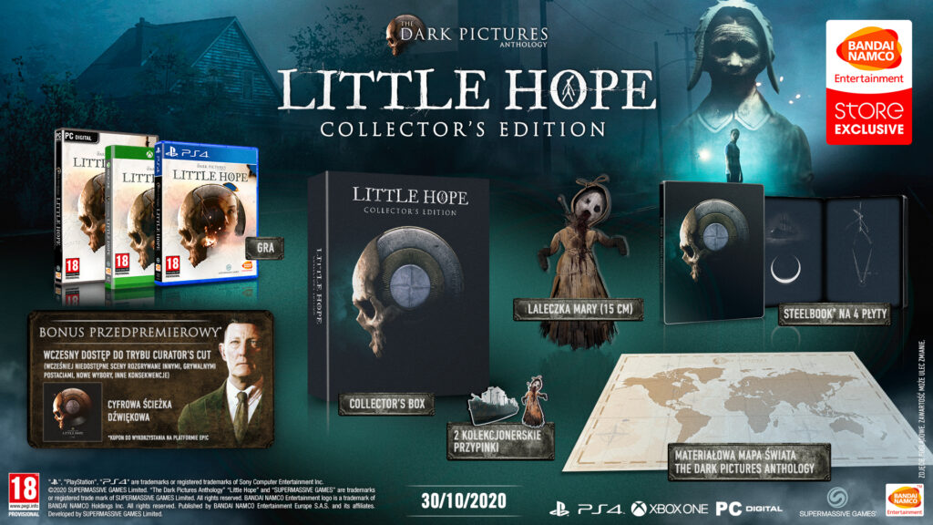 Unboxing edycji kolekcjonerskiej The Dark Pictures Anthology: Little Hope